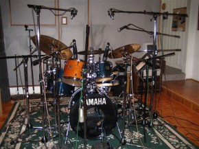 David Garibaldi Drum Set-up